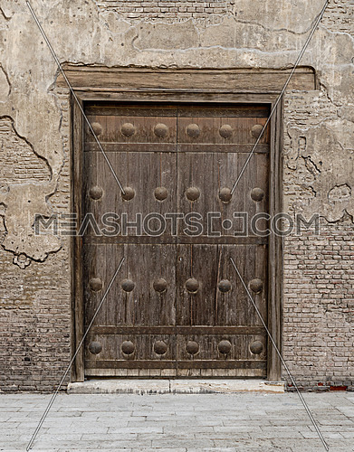 One of the small gates of Ibn Tulun Mosque, the largest mosque in Cairo, Egypt. and may be the oldest mosque in the city with its original form