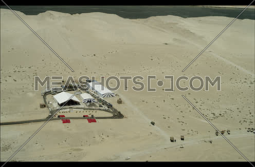 Arial shot fly over a Factory at Suez at day