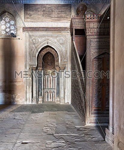 Mihrab (Niche) and Member (Platform) of Ibn Tulun Mosque, Cairo, Egypt