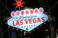 Welcome to Vegas sign at night - fast zoom in (2 of 4)