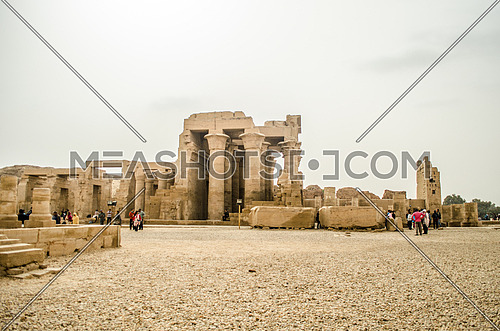 The historical Kom Ombo Pharaoh temple in between Aswan and Luxor