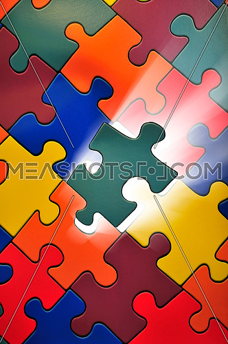 Puzzle concept of business solution and solving problems, also background image for new idea