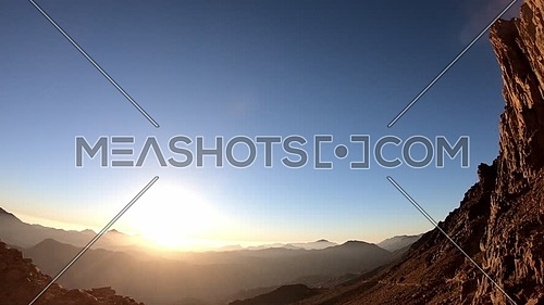 Timelapse for Sunrise from Sinai Mountain