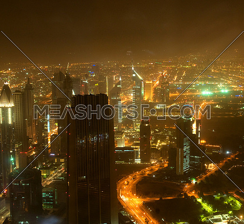 Down town of Dubai city from the top