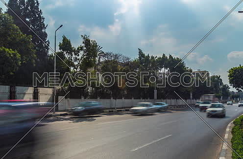 Zoom IN Shot for traffic at Salah Salim Street at Daytime