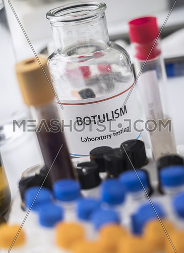 Botulism samples in laboratory, conceptual image