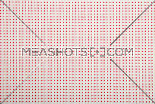 Background texture of white wicker braided plastic double strings with small mesh and pink back