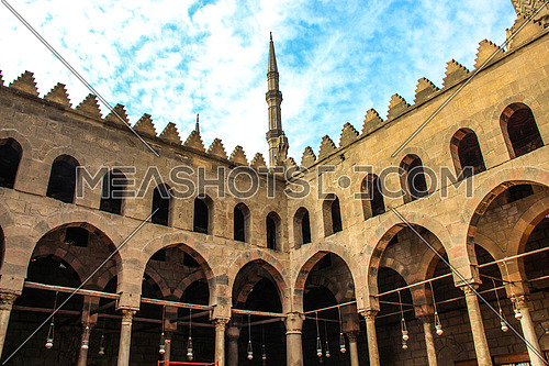 a photo from the mosque of Nasser Mohamed bin Qalawon in Cairo , Egypt