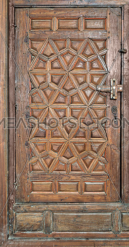 Wooden ornate door at Best El Sehemy, Cairo, Egypt