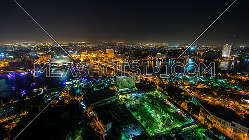 Wide view of Cairo Egypt