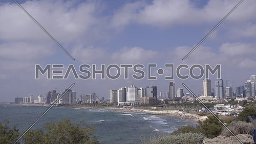 View of a beautiful summer day in Tel Aviv