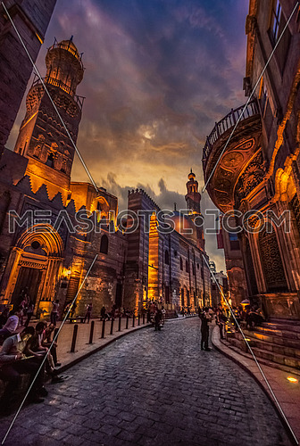 Al-Moez Street at sunset in the winter of Qahri It is worth mentioning that Al-Moez Street is one of the oldest streets of Fatimid Cairo, Its oldest