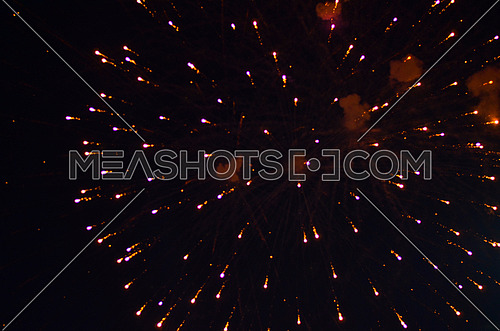fireworks celebration in  night sky