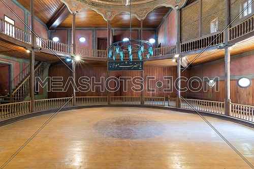 Whirling Dervishes Ceremony hall at the Mevlevi Tekke, an old abandoned meeting hall for the Sufi order and Whirling Dervishes, Cairo, Egypt