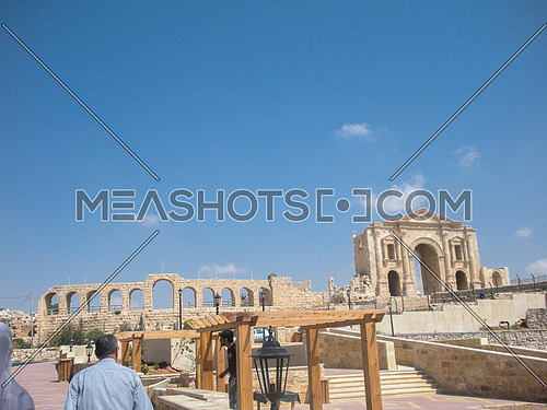 The gate of Jarash historical sit, Jordan