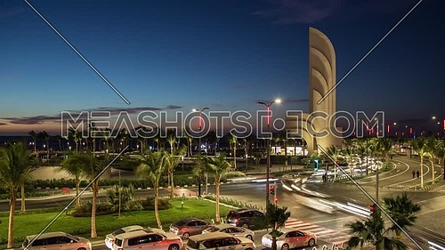 Jeddah Cornice, New Jeddah waterfront Nuras square at Jeddah city, Saudi Arabia
