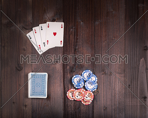 Old vintage american  poker from above
