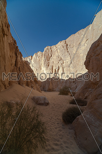 Long shot for Makhroum Mountain in Sinai Trail by day