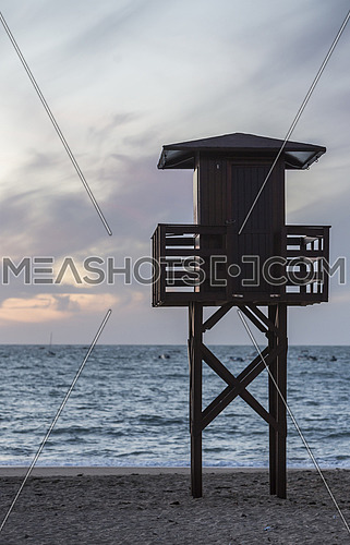 View of the beach lifeguard tower