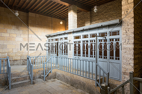 Changing rooms at historical traditional bathhouse (Hamam Inal), Medieval Cairo, Egypt