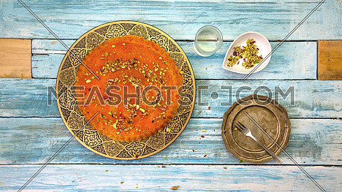 an arabic style desert called Kunafa Nablsia