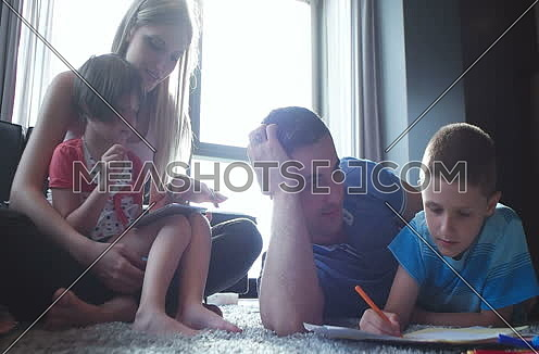 cuple spending time with kids