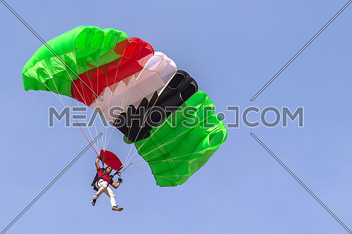 Some people practice skydiving and air sport in the desert