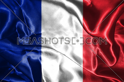 National Flag Of France Waving in the Wind 3D illustration