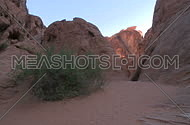 A slow pan view of the southern Nevada desert in and around the valley of fire.