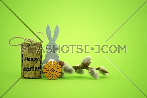 Spring Easter holiday greeting card background with free copy space for text