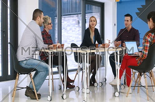 woman leader in startup office