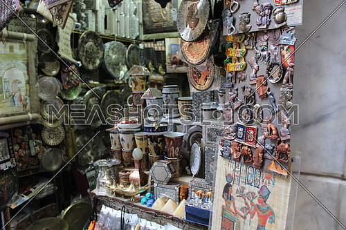 a photo from old Cairo Markets for a gifts shop selling handicrafts and oriental gifts