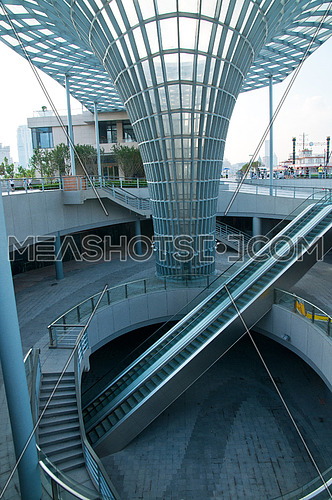 Shanghai new bund puxi architectural dettail view of staircase