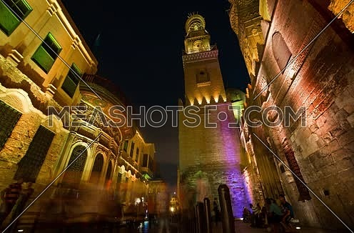 Timelapse for Muizz Street in Cairo at Night