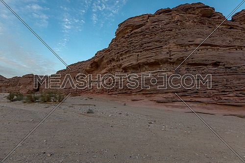 Long shot for Wadi Agarat in Sinai by day