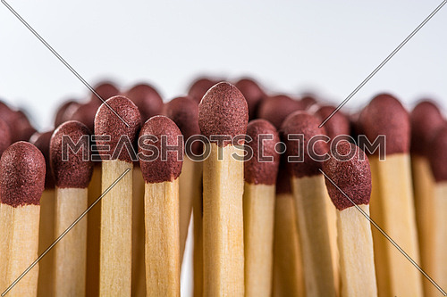 Match Sticks out beside each other to a white background