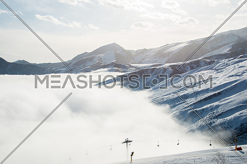 Ski lifts in Shahdag mountain skiing resort