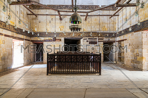 Interior of Mausoleum of al-Salih constructed by As-Saleh Nagm Ad-Din Ayyub in 1242-44, Moez Street, Old Cairo, Egypt