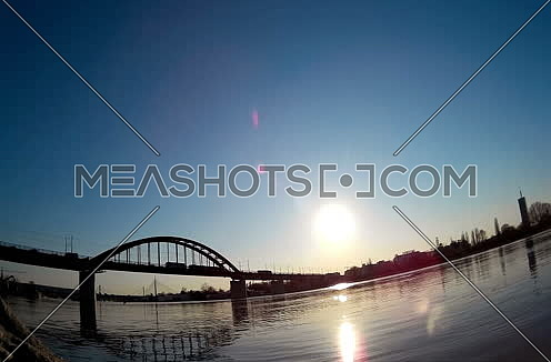 River and Bridge in the distance Timelapse