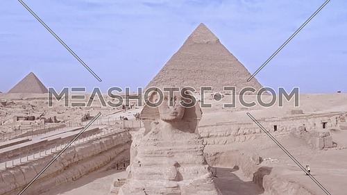 Reavel Shot Drone for The Sphinx and Menkaure Pyramid and Khafre Pyramid in Giza at day