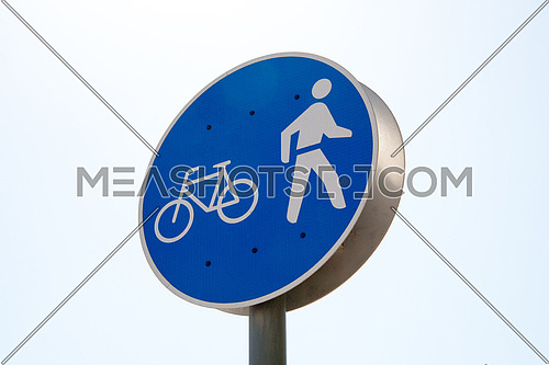 bicycle and pedestrian sign