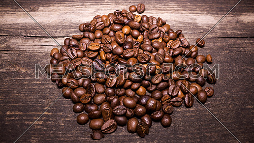 Roasted Brown Coffee Beans Background