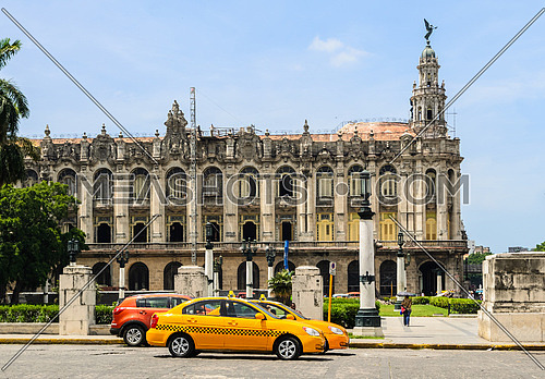 Famous Great Theatre building. Havana\'s old town is a UNESCO World Heritage Site. Havana, Cuba