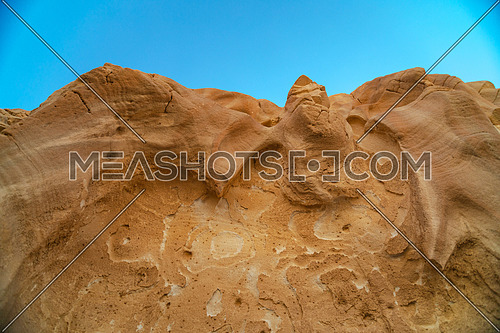 Close up shot for Makhroum Mountain in Sinai Trail at day