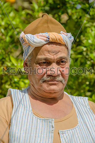 a portrait of an egyptian farmer