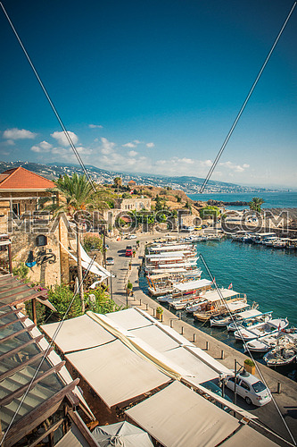 The port of Byblos - Jbeil, Lebanon