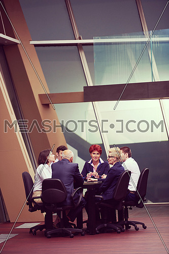 startup business people group have meeting in modern bright office interior, senoir investors  and young software  developers