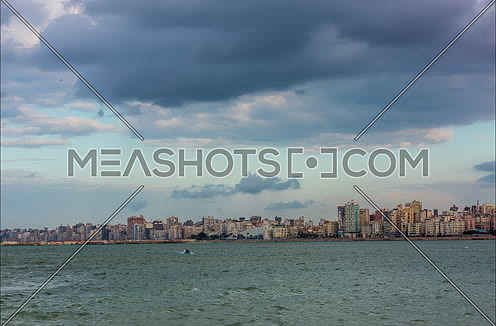 Fixed Panorama shot of Alexandria City showing Library of Alexandria