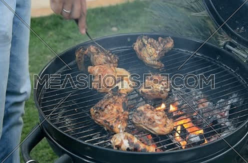 grilled meat barbecue on grill