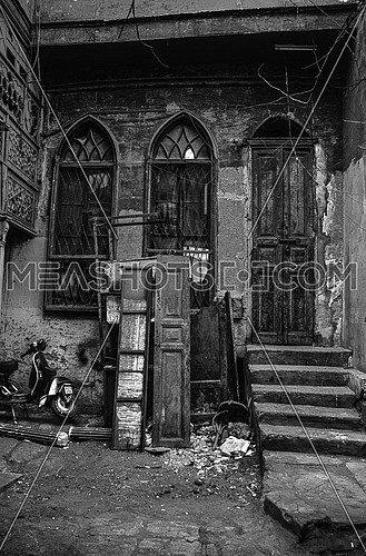 the old historic El Moez St in cairo Egypt